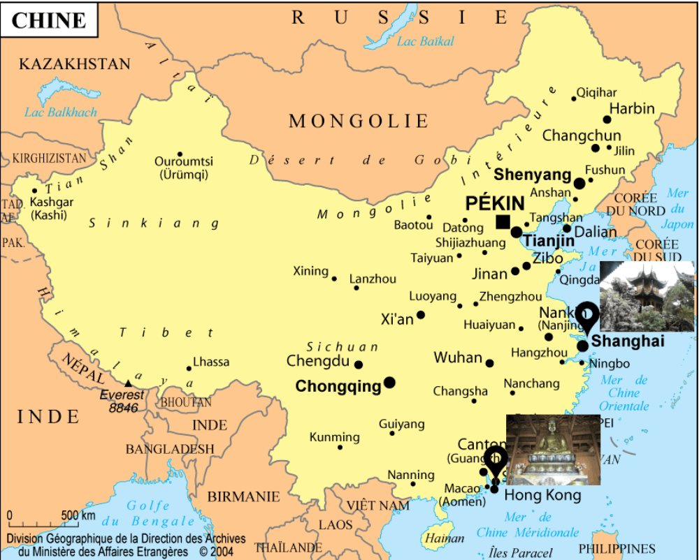 carte chine voyages pia 1000x802 - Chine