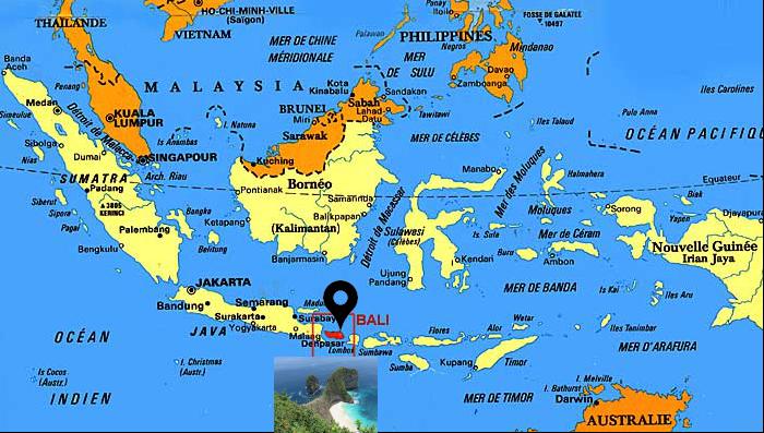 carte indonesie 2 - Indonésie