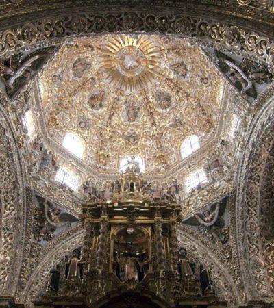 Dôme Cathédrale Puebla au Mexique VoyagesPIA 400x450 - Puebla