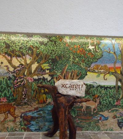 Parc Xcaret Peinture animaux à Playa Del Carmen au Mexique VoyagesPIA 1024x768 400x450 - Playa Del Carmen