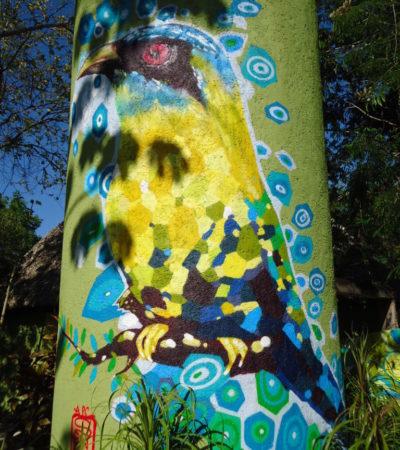 Peinture dessin oiseau Playa Del Carmen au Mexique VoyagesPIA 768x1024 400x450 - Cancun