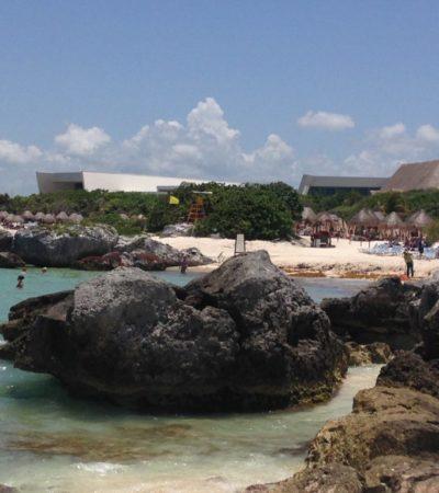 Plage et rochers de Cancun au Mexique VoyagesPIA 1024x768 400x450 - Cancun
