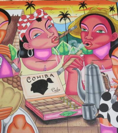 Dessin fabrique de cigares Cohiba à Vinales VoyagesPIA 1024x768 400x450 - Viñales