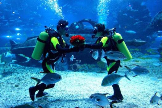 Mariage en Plongée VoyagesPIA 525x350 - Voyages de Noces